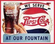 "12 x 15 Metal Sign ""We Serve Pepsi"""