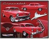 """12 x 15 Metal Sign """"Red '56 Chevy"""""""