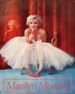 "12 x 15 Metal Sign ""Marilyn Monroe Ballerina"""