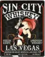 "12x15 Metal Sign ""Sin City Whiskey"""