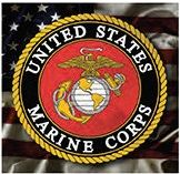 "12 x 12 Metal Sign ""Marine Corps Logo"""
