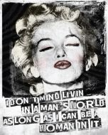 "12 x 15 Metal Sign ""Marilyn Kiss"""