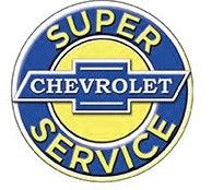 "12"" Round Sign ""Chevy Service"""