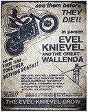 "12 x 15 Metal Sign ""Evel Knievel"""