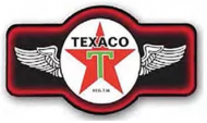 "LED Light Up Sign ""Texaco Marque"""