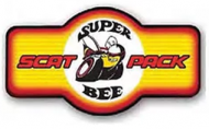 "LED Light Up Sign ""Super Bee Marque"""