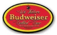 "LED Light Up Sign ""Budweiser Round"""