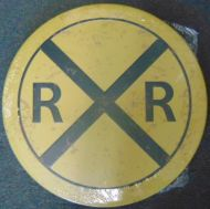 "12"" Round Metal Sign ""Railroad"""