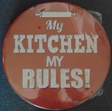 """12"""" Round Metal Sign """"My Kitchen, My Rules"""""""