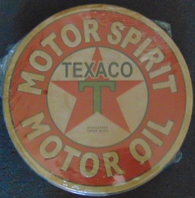 "12"" Round Metal Sign ""Motor Oil"""