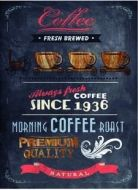 "12 x 16 Metal Sign ""Coffee 1936"""