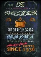 "12 x 16 Metal Sign ""The Cafe Mocha"""