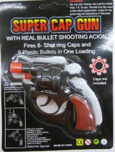 "6"" Black Toy Cap Gun (dozen)"