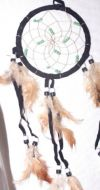 "4.5"" Dream Catcher with Green Beads"