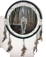 "6.5"" Wolf Mandala Dream Catcher (6 Assorted)"