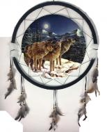 "24"" Wolf Mandala Dream Catcher (6 Assorted)"