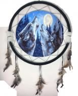"24"" Dream Catcher Mandala Single Wolf D"