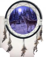 """24"""" Wolf Mandala Single"""