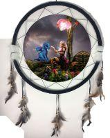 """6.5"""" Mandala Dream Catcher Dragon (3 Asst)"""