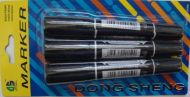 3 pc Double Ended Markers (black)