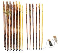 """55"""" Wooden Hiking Sticks with Carvings"""