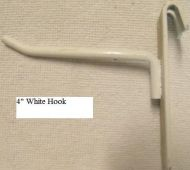 """4"""" White Hook for Gridwork"""
