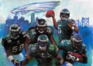 Eagles with Logo Graphic Art