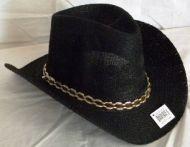 Woven Adult Cowboy Hat Black