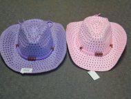 Youth Mesh Cowboy Hat Pink/Purple