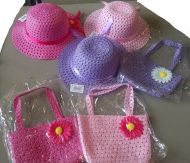 Youth Girl Hat with Purse