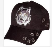 "Baseball Cap ""Wolf with Paw Prints"""