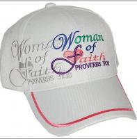 """Baseball Cap """"Woman of Faith"""" (3 Assorted)"""
