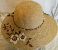 Lady Hat with Flower and Bead
