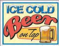 """12 x 15 Metal Sign """"Ice Cold Beer"""""""