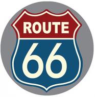 """15"""" Dome Sign """"Rt 66"""""""