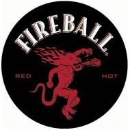 "15"" Dome Sign ""Fireball Black"""
