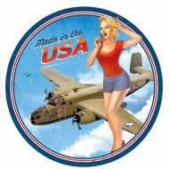 "15"" Dome Sign ""Made in USA Pin Up"""