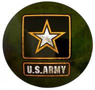 "15"" Dome Sign ""Army Star"""