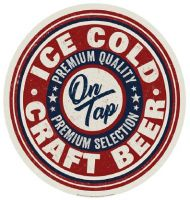 """15"""" Dome Sign """"Ice Cold Craft Beer"""""""