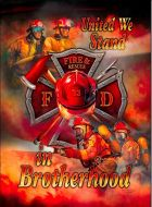 "12x17 Metal Sign ""Firefighters"""