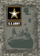 "12x17 Metal Sign ""Army Tank"""
