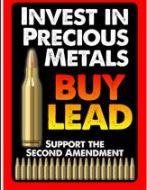 """12 x 17 Metal Sign """"Buy Lead"""" 2"""