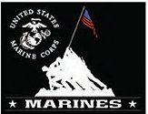 """12 x 15 Metal Sign """"Marine Memorial"""""""