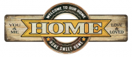 "18 x 7.5 Metal Sign ""Home"""
