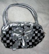 Checkered Sequin Purse