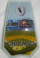 Chicago White Sox Touch Lamp Glass